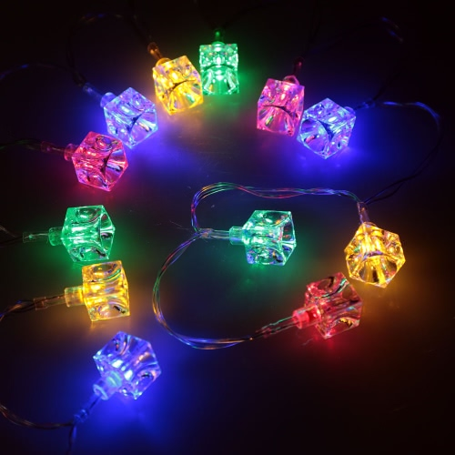 2,1 M 20 LED Multi Color Ice Block Lamp Fairy String Light für Party Hochzeit Weihnachten Home Zimmer Outdoor Dekoration