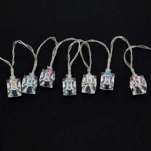 2.1M 20 LED Multi Color Ice Blokada światła Wróżka String Light dla przyjęcia Wesołych Świąt Strona główna Na zewnątrz Ozdoby