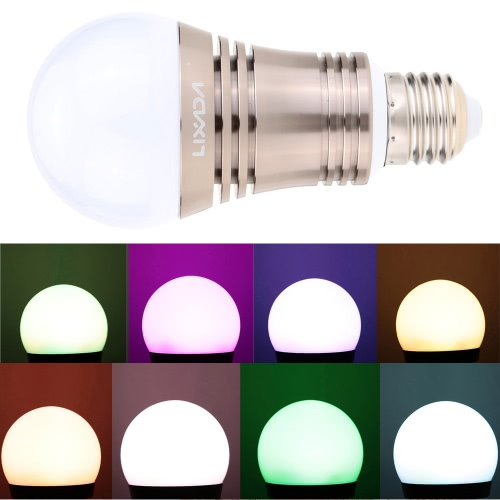 Lixada E27 Superlight BT LED RGB Smart Light Bulb Smartphone Controll