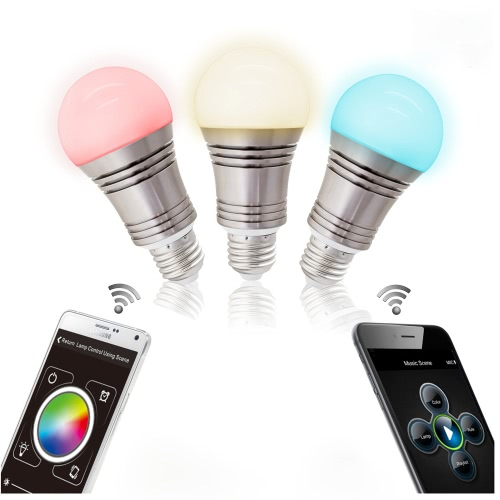 Lixada 7.5W Superlight Bluetooth LED E27 RGB bombilla que cambia de color inteligente