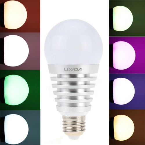 Lixada E27 Superlight BT LED RGB Smart Light Bulb Smartphone Controll