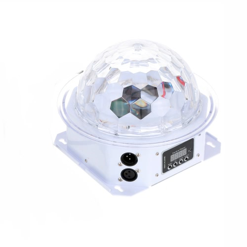 Lixada 20W LED Rotating Strobe RGBPYW Crystal Magic Ball Effect Par Light