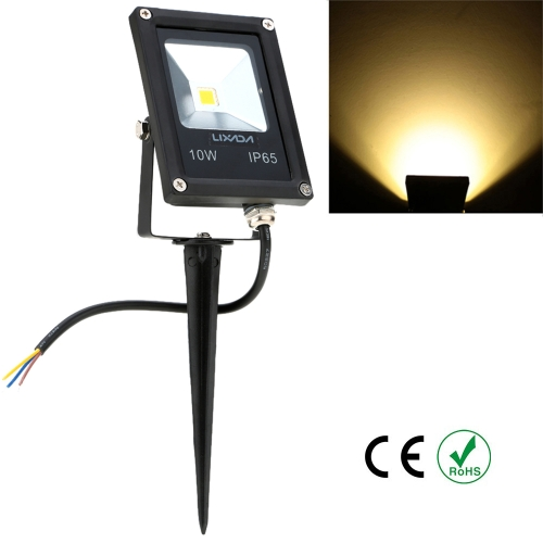 Lixada Real Power 10W 85-265V AC IP65 Ultrathin LED Flood Light with Stake Outdoor Garden Tunnel Square Yard Landscape Lighting CE RoHs