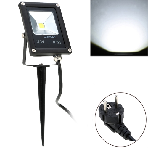 Lixada Real Power 10W 85-265V AC IP65 Ultrathin LED Flood Light with Wire & Stake EU Plug Outdoor Garden Tunnel Square Yard Landscape Lighting CE RoHs
