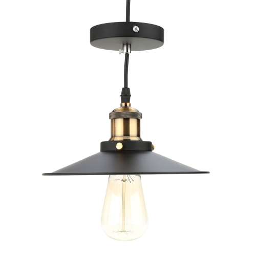 Lixada Stal nierdzewna Retro Vintage Pendant Light Wieś Lampa E27 do sufitu Living Hall z 1,2 m Wire