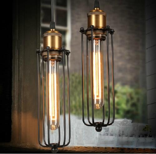 Lixada Vintage  Retro Pendant Lamp Elegant Countryside Warehouse Light Chandeliers E27 Loft Ceiling Bedroom Hotel Hall with 1.2m Wire