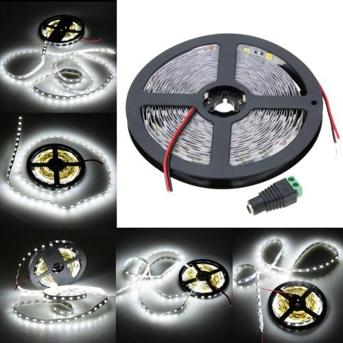 Lixada cálido blanco tira luz SMD 5050 Flexible de LED 60LEDs/m 5m/lote con adaptador de 12V 5A para Bar restaurante