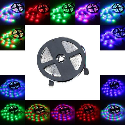 Lixada LED RGB luz de tira SMD 3528 Flexible Luz 60LEDs / m 5m / lot 12V para Bar Hotel Restaurante