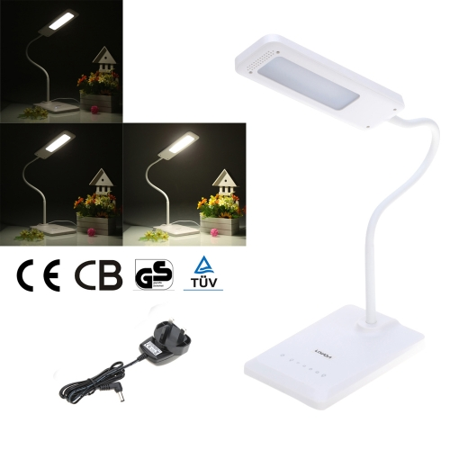 Lixada Flexible Eyes Care Protection 6 Levels Adjustable Brightness Touch Switch Desk Light Reading Lamp with USB Output Port US Plug 30 Minutes Automatic Power Off Function DC 5V 1.2A