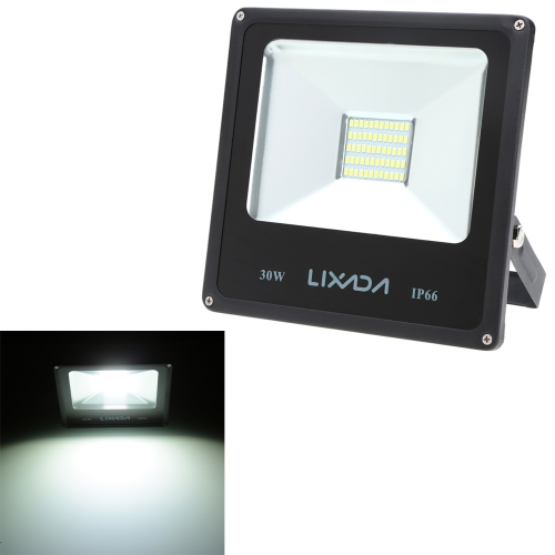 Lixada Real Power 30W High Power Factor Greater than or Equal to 0.95 IP66 Water Resistant LED Flood Light 85-265V for Gardern Outdoor Illumination