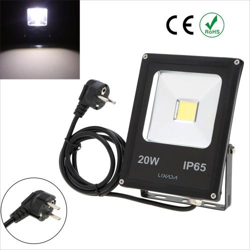 Lixada фактическая мощность 20W IP65 водонепроницаемый LED Лампа Прожектор с US разъемом 85-265V для сада наружного освещения
