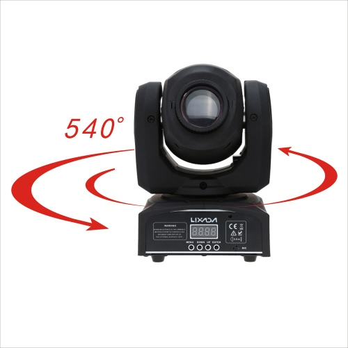 Lixada DMX-512 Mini Moving Head Light 8 Color Changings LED Stage Light with Shapes Automatic Professional 9/11 Channel Party Disco Show 25W AC 100-240V Sound Active