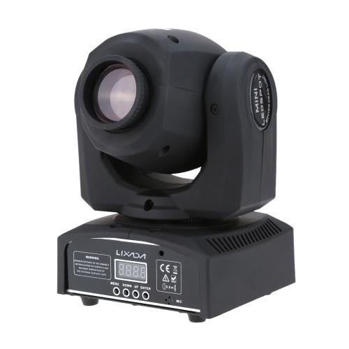Lixada 8 Gobos RGBW DMX-512 Mini Moving Head LED Stage Light