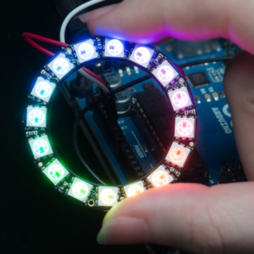 DIY RGB LED Ring Light 16*WS2811 5050 RGB LED 5V 1A with Integrated Driver