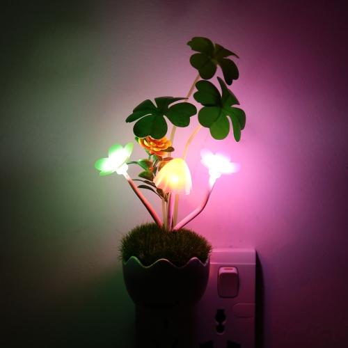Lixada LED Color Change Light Sensor Energy Saving Mushroom Flower Plant Potted Bed Decor Night Lamp Home Illumination