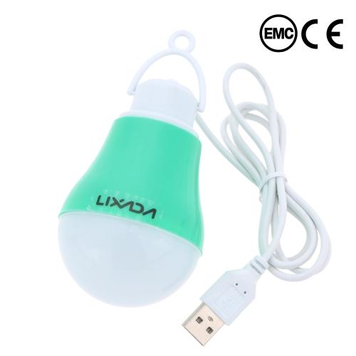 Lixada  DC 5-6V фактическая мощность 4W USB LED Лампа для дома туризма отдыха чрезвычайного наружного освещения