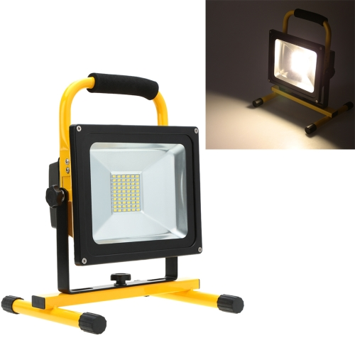 Lixada Rechargeable Portable Durable 30W Warm White LED Flood Light IP65 for Indoor Outdoor Use