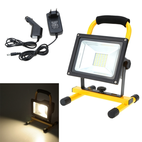 Lixada Rechargeable Portable Durable 20W Warm White LED Flood Light IP65 for Indoor Outdoor Use