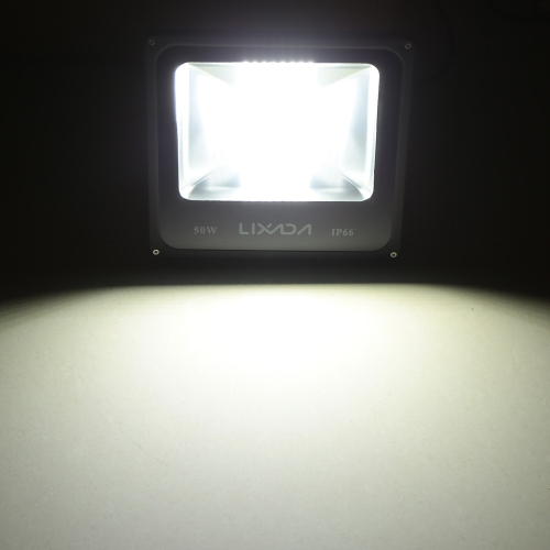 Lixada Portable Durable 50W Warm White LED Flood Light IP66 for Indoor Outdoor Use AC85-265V