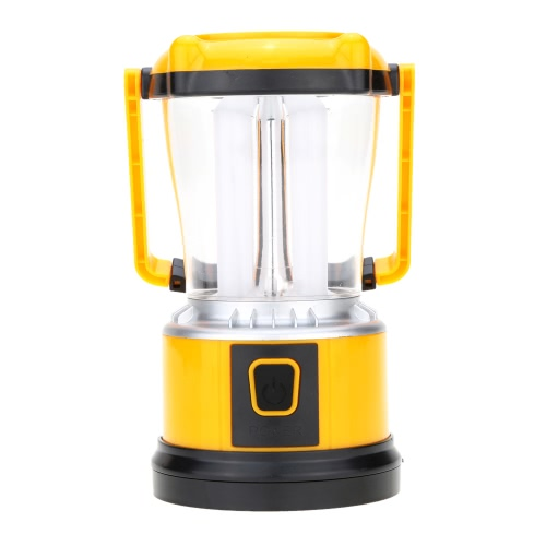 Lixada Multifunctional Outdoor Solar Powered Rechargeable Battery LED Lamp Handle Light with USB Output Port Handle EU Standard Plug for Camping Tent Emergency Illumination