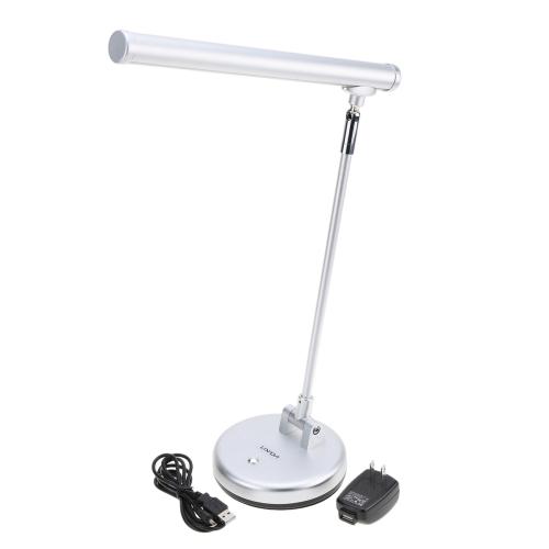 Lixada Складная Вращательная Гибкая 6W LED Настольная Лампа с регулируемой яркостью UK разъем