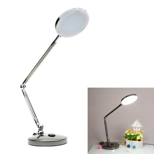 Lixada Rotatable Foldable Flexible 6W LED Desk Light Lamp with Touch Switch Adjustable Brightness UK Plug