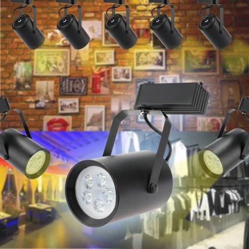Projecteur léger de rail de voie de 3W LED de seconde main réglable pour l'utilisation AC85- 265V de bureau d'exposition de mail