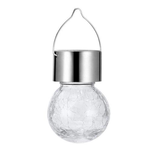 Solar Crack Hängelampe Scenic Spot Crack Ball Hanging Light Bunte dekorative Lampe Solar Garden Lampe Weiß / Warmweiß / Mixcolor Light Farbe