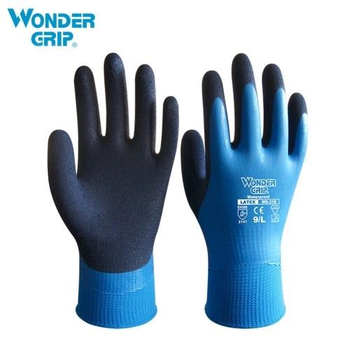 Wonder Grip Thermo Plus Kältebeständige Arbeitshandschuhe Doppelschicht Latex beschichtet Schutz Gartenarbeit Angeln Arbeitshandschuhe