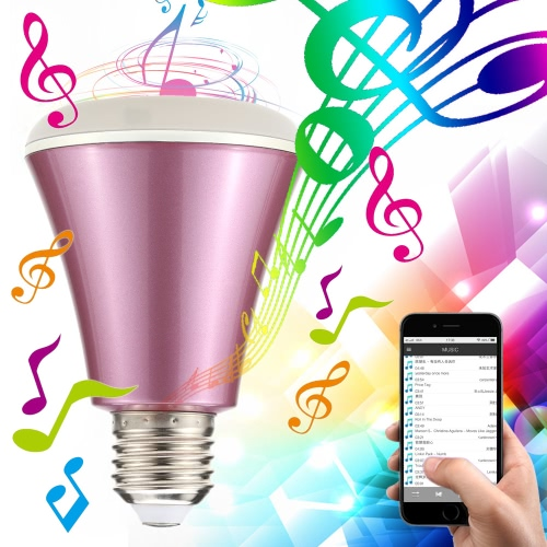 Bombilla altavoz Bluetooth Smart LED 4W E27 aplicación de teléfono inteligente con control regulable RGBW que cambia de color luces de música para dispositivos iOS y Android para iPhone // iPad / Samsung / de la tableta