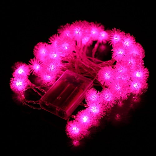 40LEDs Battery-operated Snowball Fairy String Light 2 Work Modes Perfect for Xmas Halloween Party Decoration