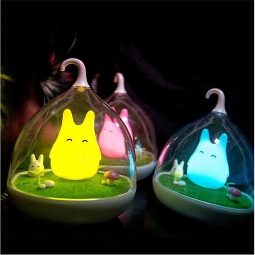 Kreative Mikrolandschaft Nacht Lampe Nette tragbare Lichter für Schlafzimmer Baby Schlaf Schwingung Dimmer Touch Sensor Home Decors Atmosphäre hellgelb
