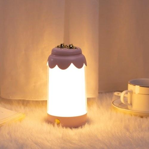 Luz de noche LED Lámpara de mesa recargable USB Luz de lectura Lámpara de mesa de noche para sala de estar Dormitorio
