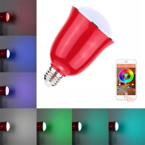 Image of 5W E26/E27 Smart BT RGB & White RGBW LED Lampe Licht BT Lautsprecher Musik Lampe Helligkeit/Volumen einstellbar für iPhone 6 s/Plus Samsung Galaxy Smartphones App Control mehrfarbiger Hauptverwendungszweck innen verwenden