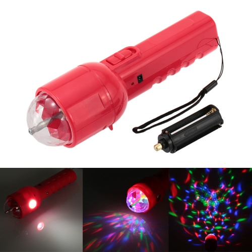 DC 5V 3W Portable Multifunctional Dual Use RGB LED Stage Effect Light Magic Ball Lamp Flashlight Torch for Disco KTV Club Party