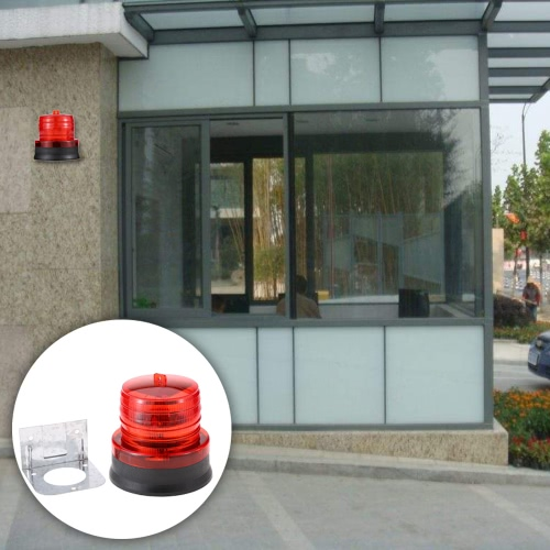 Outdoor Portable Solar Powered Light Sensitive Strobe Flash Warning Car Vehicle Magnetic Mounted LED Caution Lamp