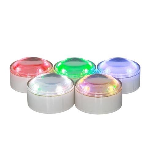 Luce solare interrata con illuminazione a LED a 4 colori a energia solare
