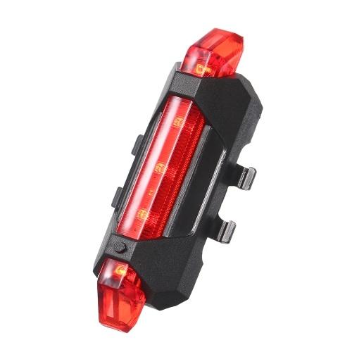 3.7V 0.5W USB recargable LED Luz de bicicleta 4 modos de iluminación Luz de cola de bicicleta