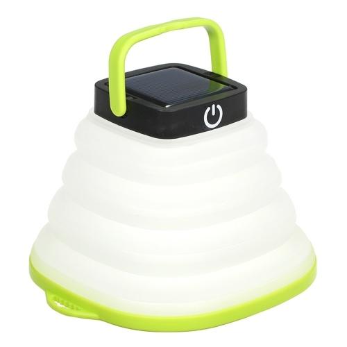 Складной светильник на солнечных батареях, уличное освещение для приключений, портативный светильник для кемпинга, мягкий выдвижной светильник, перезаряжаемый аварийный свет