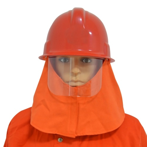 Casco antincendio con isolante ignifugo Scialle resistente al calore Maschera antigraffio Casco protettivo antincendio per pompieri