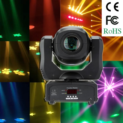 35W DMX512 Sound Control Auto Rotating 9 / 11 Channels Rainbow 8 Colors Changing Head Moving Light LED Stage Gobo Pattern Lamp for Disco KTV Club Party