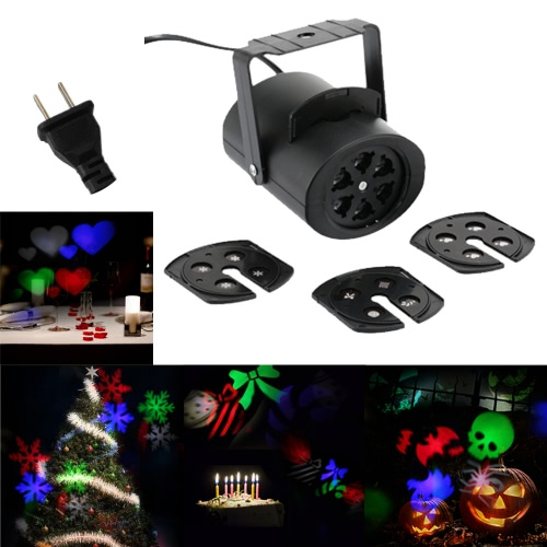 4W Mini LED RGB Gobo Light Projectior Effect Stage Lamp