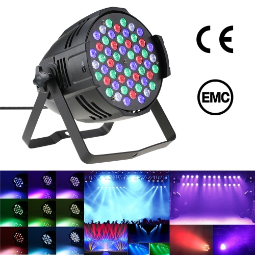 Lixada 80W 54LEDs RGBW PAR Wall Wash Stage Effect Lamp