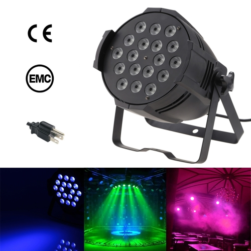Lixada 200W 18LED 4 in1 RGBW Color Changing PAR Light Stage Effect Lamp