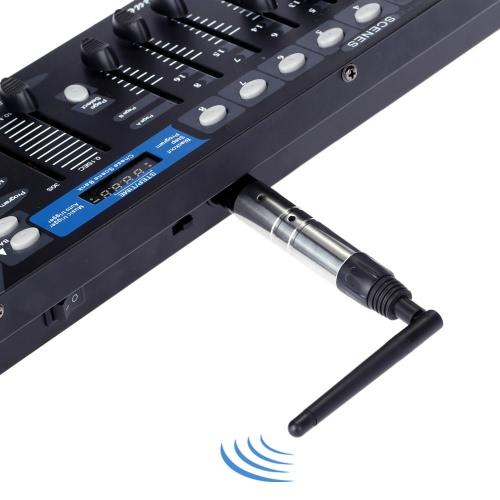 23DBM High Power 1000M Ultra Long Distance 2.4G ISM DMX512 Wireless Male XLR Transmitter Lighting Controller
