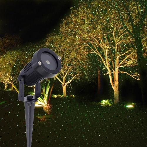 Пульт дистанционного управления Красный зеленый газон украшение лампы Sky Star Эффект Свет этапа Поддержка синхронизации Strobe Изменение цвета для партии украшения Рождественский фестиваль