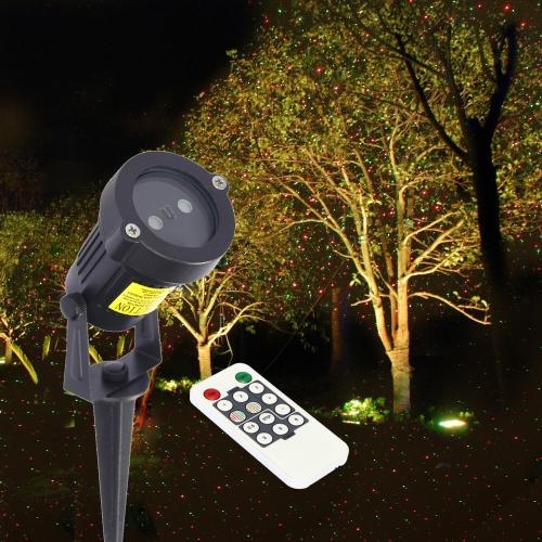 Télécommande Étape soutien léger Décoration Lawn contrôle Red Green Lamp Sky Star Effect Timing Strobe Changement de couleur pour Noël Party Festival de décoration