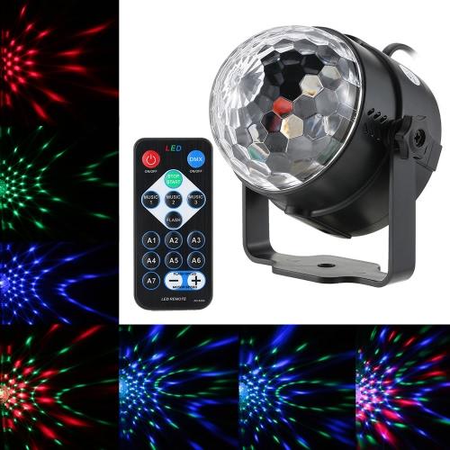 3W RGB Remote Control Mini LED Magic Ball Lamp Stage Effect Light фото