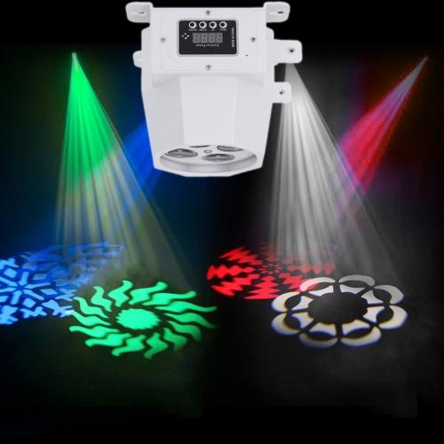 15W 8 каналов 4LEDs RGBW Изменение цвета Мини шаблон Этап свет лампы Поддержка DMX512 автозапуск звуковой активации для КТВ диско-клуб Бар партии