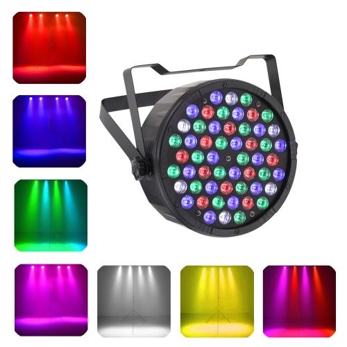 Tomshine 54 * 3W LED RGBW Wash Effect PAR Luz de la etapa